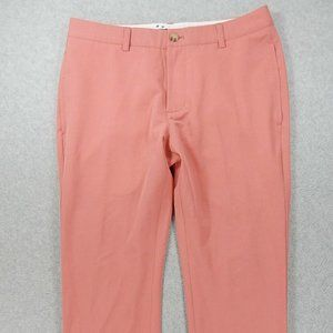 Vineyard Vines Poly Blend Flat Front Casual Pants